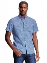 Old Navy Slim-Fit Linen-Blend Printed Shirt for Men