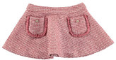 Mayoral Tweed A-Line Skirt, Dark Pink, Size 3-6