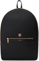 Thom Browne Black Leather Backpack