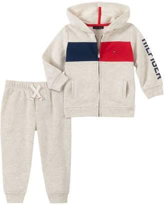 Tommy Hilfiger Baby Boy's 2-Piece Cotton-Blend Fleece Hoodie Jogger Pants Set