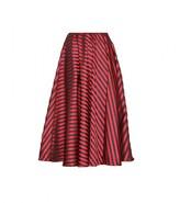 Miu Miu Striped satin-twill midi skirt