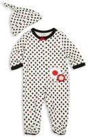 Offspring Baby's Two-Piece Printed Footsie & Hat Set