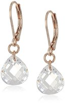 "lonna & lilly Glamour"" Rose Gold-Tone Small Crystal Drop Earrings"