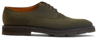 John Lobb Milton Waxed-suede Derby Shoes - Dark Green