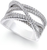 Giani Bernini Cubic Zirconia Crisscross Ring in Sterling Silver, Only at Macy's