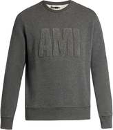 Ami Logo-appliqué crew-neck sweatshirt