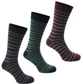 Firetrap Blackseal Mixed Stripe 3 Pack Socks Mens