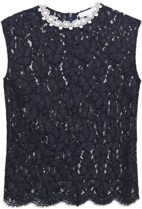 Sandro Tally Guipure And Corded Lace Top