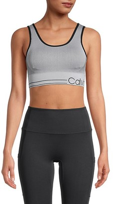 Calvin Klein Knit Logo Sports Bra