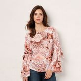 Lauren Conrad Women's Printed Top