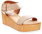 Steve Madden Nylee Leather Platform Wedge Sandals