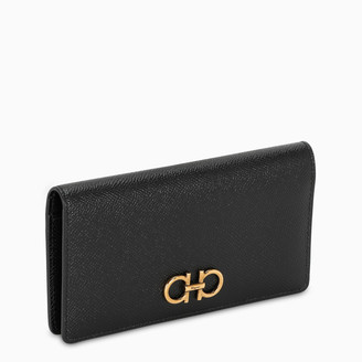 Salvatore Ferragamo Gancini black wallet