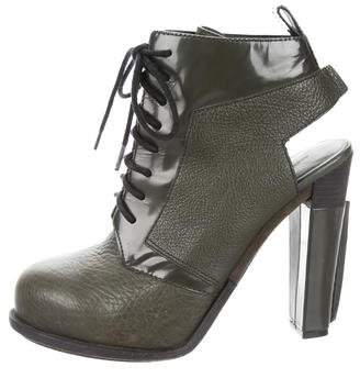 Alexander Wang Cutout Lace-Up Booties