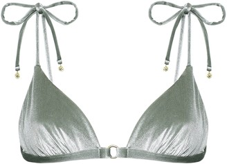LOVE Stories Uma Stretch-velvet Triangle Bikini Top