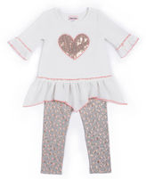 Little Lass 2-pc. Textured Leggings Set - Baby Girls newborn-24m