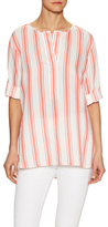BCBGMAXAZRIA Linzey Stripe High-Low Top