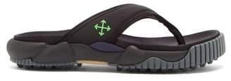 Off-White Oddsy Tread-sole Neoprene And Rubber Sandals - Mens - Black
