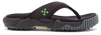Off-White Off White Oddsy Tread-sole Neoprene And Rubber Sandals - Mens - Black