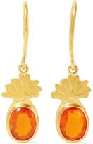 Marie Helene De Taillac Marie-Hélène de Taillac - Precious Pineapple 22-karat Gold Opal Earrings - one size