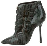 Emilio Pucci Snakeskin Pointed-Toe Ankle Boots