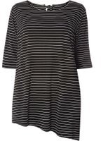 Dorothy Perkins Womens DP Curve Plus Size Monochrome Tie Back Top- Black
