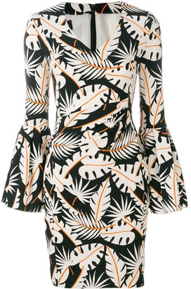 Talbot Runhof Jungle Print Dress