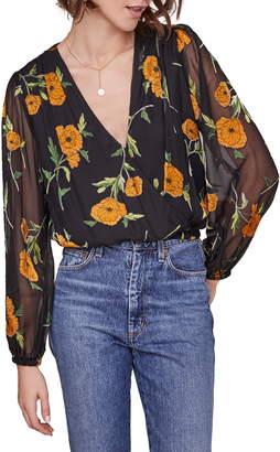ASTR the Label Shanley Floral Wrap Top