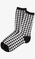 Express Gingham Check Crew Socks