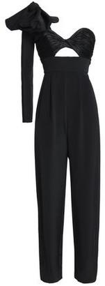Johanna Ortiz One-shoulder Bow-detailed Silk-cady Jumpsuit