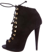 Giuseppe Zanotti Suede Studded Ankle Boots