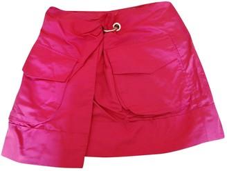 Salvatore Ferragamo Pink Silk Skirt for Women