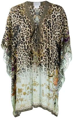 Camilla Leopard-Print Kaftan Dress