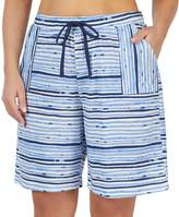 Jockey Plus Size Striped Bermuda Pajama Shorts