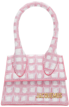 Jacquemus Pink Check Le Chiquito Clutch