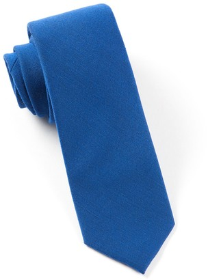 Tie Bar Solid Wool Royal Blue Tie