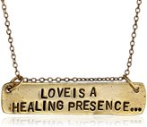 "Alisa Michelle Back To Basics"" -Plated Love Is A Healing Presence Chain Necklace, 18"""