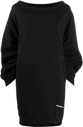 DSQUARED2 cocoon-sleeved sweatshirt dress