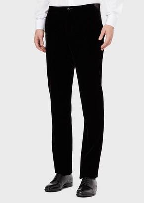 Giorgio Armani Velvet, Flat-Front Trousers
