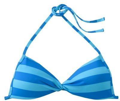 Junior's Stripe Bandeau Swim Top -Assorted Colors