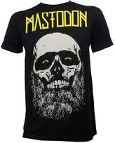 Global Mastodon Mens Admat Beard Skull Slim Fit T-Shirt L