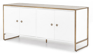 One Kings Lane Tracey Boyd Christopher Sideboard - White/Antique Brass