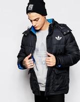 Adidas Originals Padded Long Jacket With Hood Ab7879 - Black