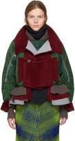 Undercover Khaki Sheepskin Bomber Jacket