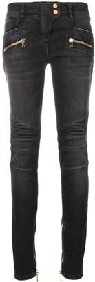 Balmain skinny biker jeans