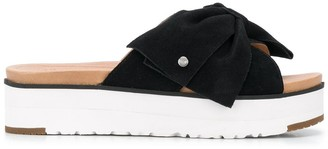 UGG Joanie bow strap sliders