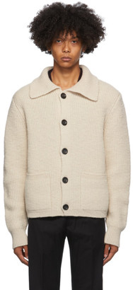 Dries Van Noten Beige Wool Cardigan