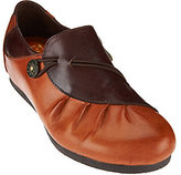 Spring Step L'Artiste by Ruched Leather Loafers- Clove