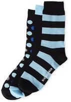 Ben Sherman 3-Pack Dotted & Stripe Crew Socks