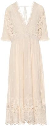 LoveShackFancy Delfina embroidered midi dress