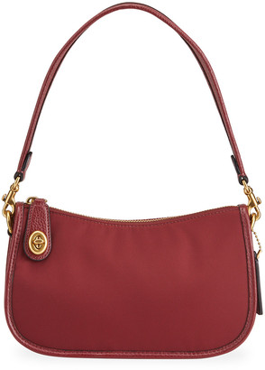 Coach 1941 Nylon Swinger Shoulder Bag, Wine